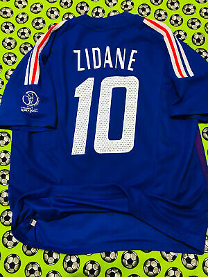 62fcfeed3db Adidas France Home Soccer Football Jersey World Cup 2002 Zinedine Zidane