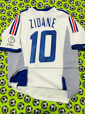 8f8b6fefc30 Adidas France Away Soccer Football Jersey World Cup 2002 Zinedine Zidane