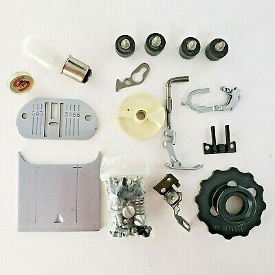 Singer 758 Part - ACCESSORIES (Plates, Bulb, Screws, CAM, foot) - ORIGINAL PARTS