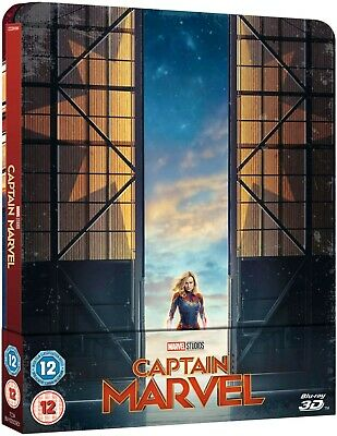 Captain Marvel (Bluray 3D) Limited Edition Steelbook Includes 2D Bluray