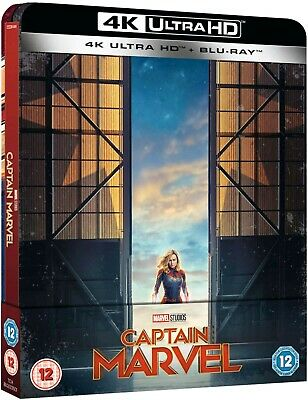 Captain Marvel (Bluray 4K) Limited Edition Steelbook Includes 2D Bluray