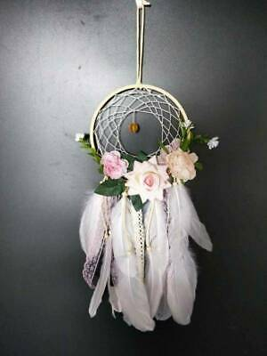 Handmade Dream Catcher Flower Feather Wall Home Hanging Decoration Ornament Gift