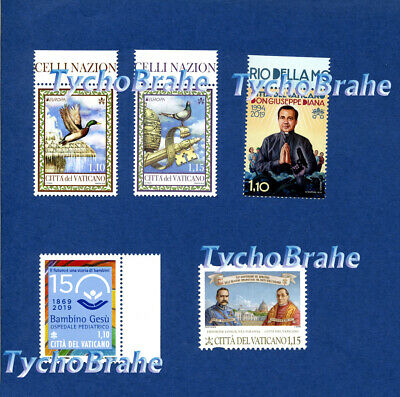 Set Stamps ALL ISSUES 19-29TH MARCH 2019 VATICAN MNH VATICANO Francobolli Serie