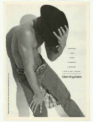 1992 Print Ad Bloomingdale's Levi's 501 jeans Vintage 90's Advertisement cowboy