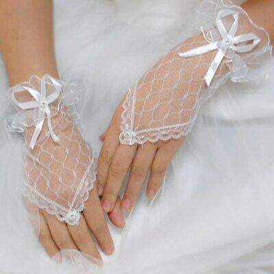 Lace Bridal Wedding Bridemaid/Prom/Girl's Holy Communion/Fancy Fingerless Glove