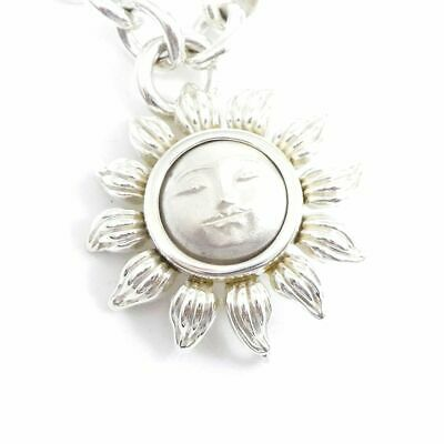 Authentic Tiffany & Co. Sterling Silver 925 Sun Chain Pendant Necklace D1612