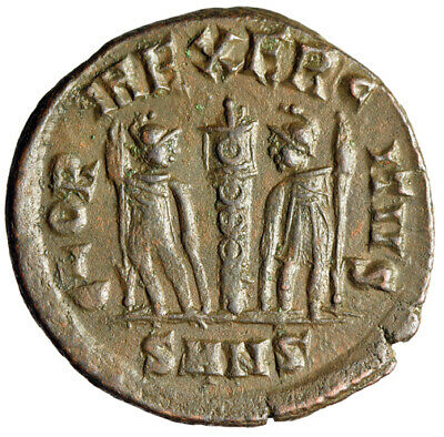 """RARE MINTAGE Roman Bronze Coin Constantine II """"Soldiers"""" Nicomedia HIGH QUALITY"""