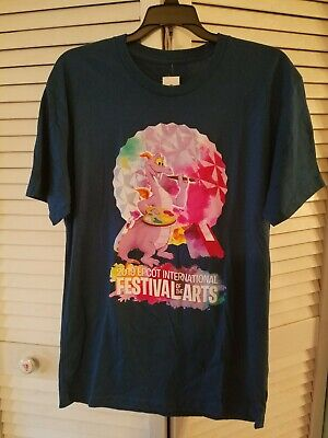 2019 Disney Parks EPCOT Figment T Shirt Festival Of The Arts Size Medium NWT☆☆