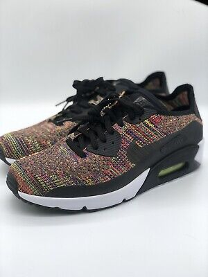 d9ce499bf5 Nike Air Max 90 Ultra 2.0 Flyknit Men 875943-002 Multicolor Run Shoes Size  10