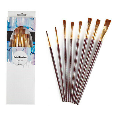 8 x Artists Paint Brushes Assorted Sizes Art Acrylic Watercolor Oil Pen Liner