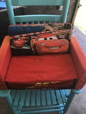 Pleasing Disney Cars Lightning Mcqueen Flip Open Pull Out Bed Sofa Chair Home Interior And Landscaping Ologienasavecom