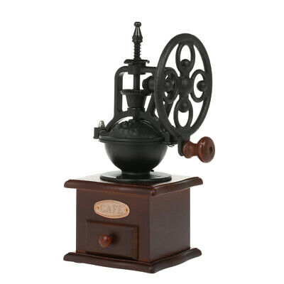 Manual Coffee Grinder Antique Coffee Mill Cast Iron Hand Crank with Grind O9U8