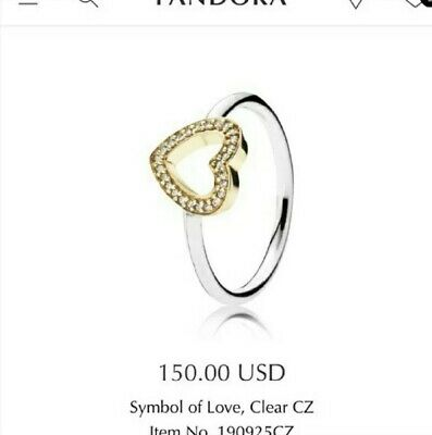 530f9be9b PANDORA PUZZLE HEART Ring, Sterling Silver & 14K Gold 196548-56 EU ...