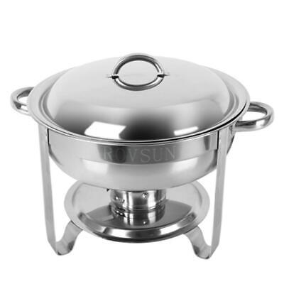 New Stainless Steel Chafer 1 Pack Round Chafing Dish Sets 5 QT Dinner Serving