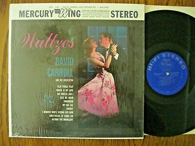 David Carroll & his Orchestra LP 1960s Waltzes EX stereo in shrink Mercury Wing