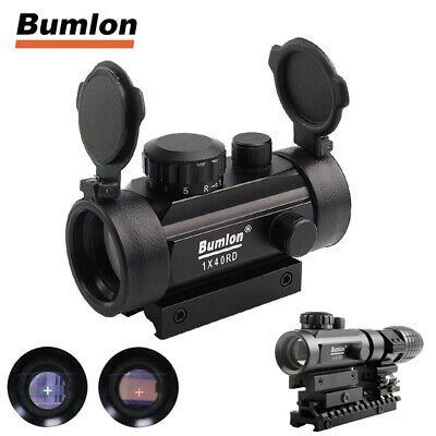 Tactical 1x40mm Green Red Dot Sight Scope Holographic Sight Cross Riflescope