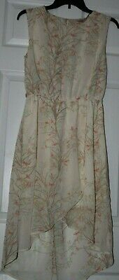 Love 21 high low dress. Size Small. Floral sheer overlay. Multi color. pre owned