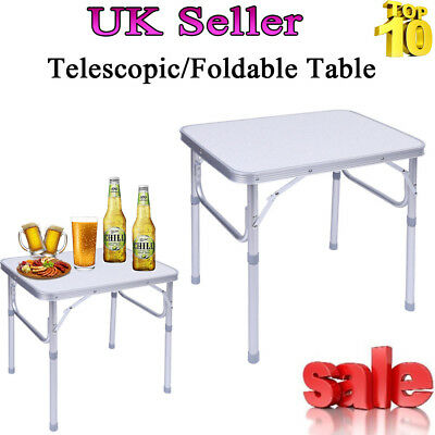 Folding Heavy Duty Camping Table Trestle Party Kitchen Outdoor Indoor Garden BBQ