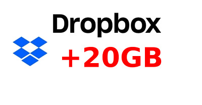 Dropbox + 20gb Cloud code instant delivery