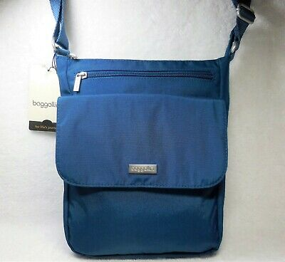 5f6eea57f Baggallini New TOWN Bagg Crossbody, Pacific Blue, Pockets & Organizers