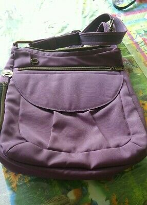 bd002f5b1 NWOT Travelon Anti-theft Hobo Crossbody Plum Purple Shoulder Handbag Mint