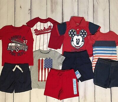 Toddler Boy Red White Blue 24 Months/2T Clothes Gymboree Mickey Baseball Lot Euc