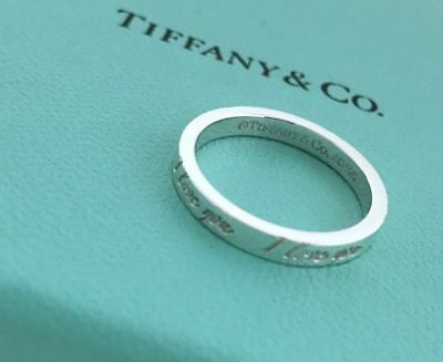 6b7411e55 Tiffany & Co. Sterling 925 Silver I Love You Notes Size 6 Stacking Ring