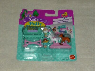 Vintage 1996 Bluebird Mattel Polly Pocket Pollyville Pony Jumpin Fun New Moc