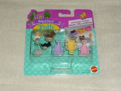 Vintage 1996 Bluebird Mattel Polly Pocket Pollyville Li'l Pet Cats New Moc