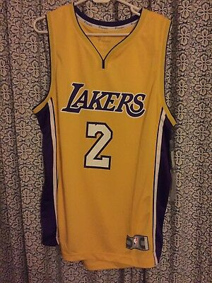 buy popular fba3a 1b501 FANATICS LONZO BALL #2 Los Angeles Lakers Icon Jersey Home ...