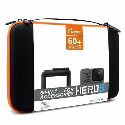 Pieviev Accessories Case Kit for Gopro HERO5 Black (60+ Items,Included HERO5 Bla