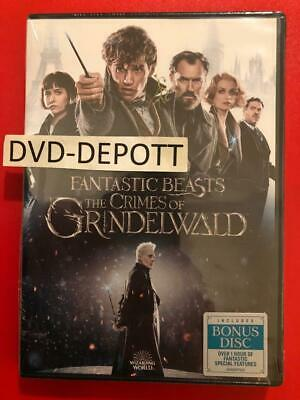 Fantastic Beasts: The Crimes of Grindelwald DVD 2 DISC AUTHENTIC DVD READ NEW!