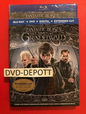 Fantastic Beasts The Crimes Of Grindelwald Blu-Ray/DVD/HD W/Slipcover FAST Shipp