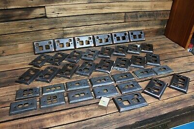 Bulk Vintage Copper Power Wall Socket Plug Surround Antique Face Plate Lamp