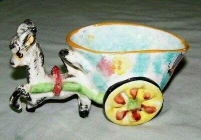 Lovely Dulane Donkey Cart..made In Italy W/Sticker