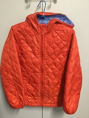 Uniqlo - Red Hooded Puffer Jacket with Blue Lining - Sz 150 (12Y?) - Exc Cond
