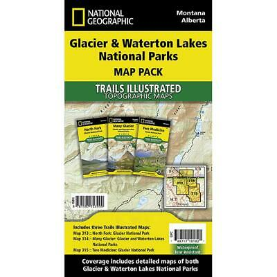 National Geographic Glacier/Waterton Map Pack - TI01020577