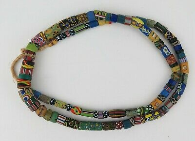 Venetian African glass trade beads mixed strand