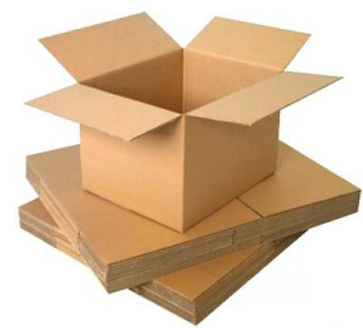 "5 - Cardboard 4x4x4"" inch Single Wall Postal Packaging Parcel Post Boxes"