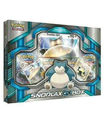 Pokemon Snorlax Gx Box 4xbooster Packs And Promo Cards. New & Unopened