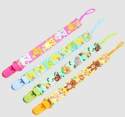 Baby Anti-lost Pacifier Chain Holder Dummy Cute animal Soother Pacifier Clip