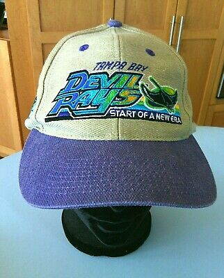 buy popular ea8e2 10785 MLB Tampa Bay Devil Rays Baseball Cap Strapback Hat Inaugural Season 1998  Team