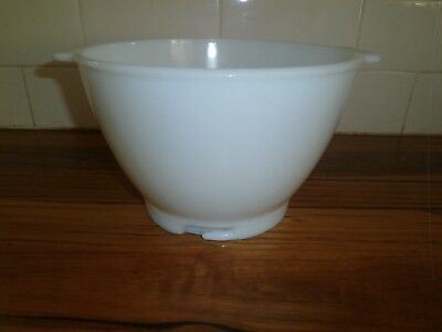 Kenwood Chef Milk Glass Mixmaster Mixing Bowl ~ Suits All 700 & 900 & Km Series