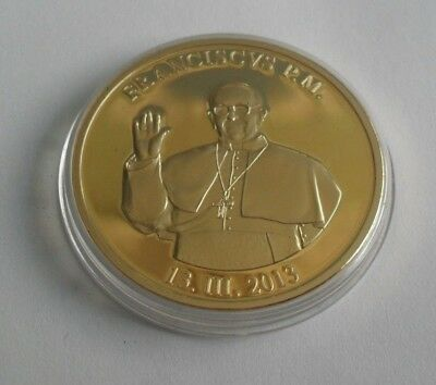 Free P&P Proof Medal/Coin Papal Coat Of Arms Pope Franciscvs P.m. 13.111.2013