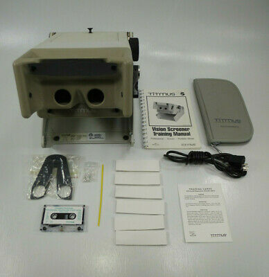 Titmus Model 2S Vision Screener w/ Manual, Extra Bulbs, Rest Tissues, & More