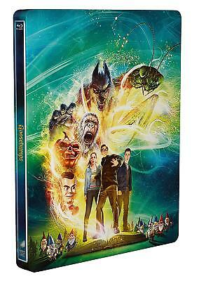 Goosebumps (3D Edition with 2D Edition + UltraViolet  Steelbook  [Blu-ray] New!