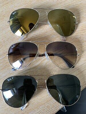 53d828c45 RAY-BAN AVIATOR CLASSIC Green/Black - Polarised RB3025 002/58 58-14 ...