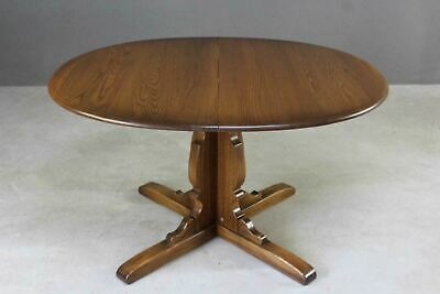 Ercol Elm Draw Leaf Extending Kitchen Dining Table