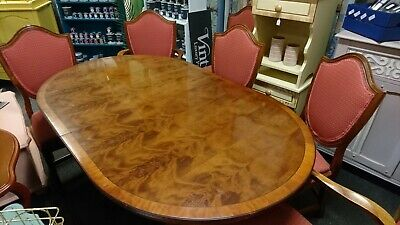 Yew Extendable Dining Table With Six Chairs