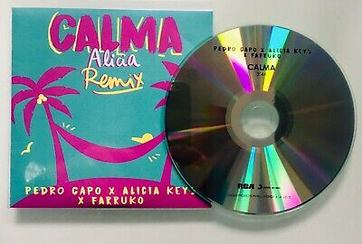New Promo: ALICIA KEYS Rare French CDS CALMA Remix Laminated Sleeve 2019